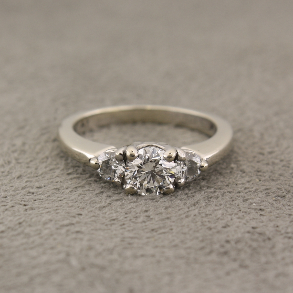 Preowned Wedding Rings: Pre-Owned Diamond Three-Stone Engagement Ring