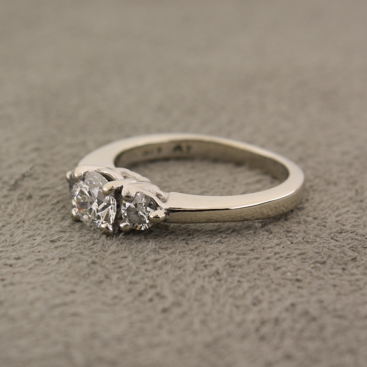 Pre-Owned Diamond Three-Stone Engagement Ring