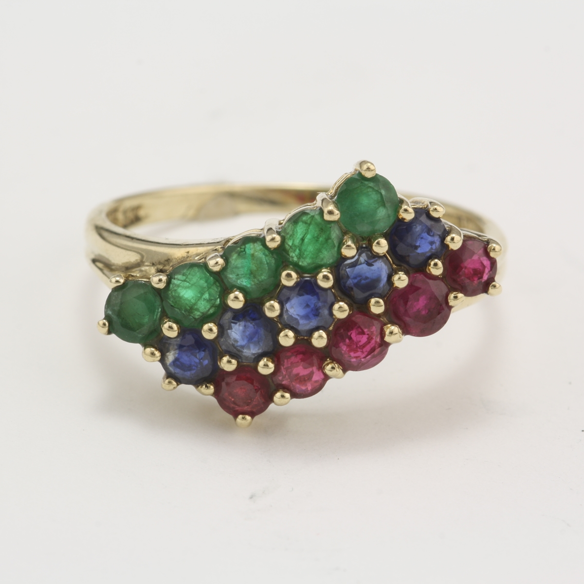 ring created sapphire plated jcpenney white p lab emerald gold
