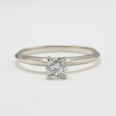 Pre-Owned 14 Karat White Gold Diamond Solitaire Ring
