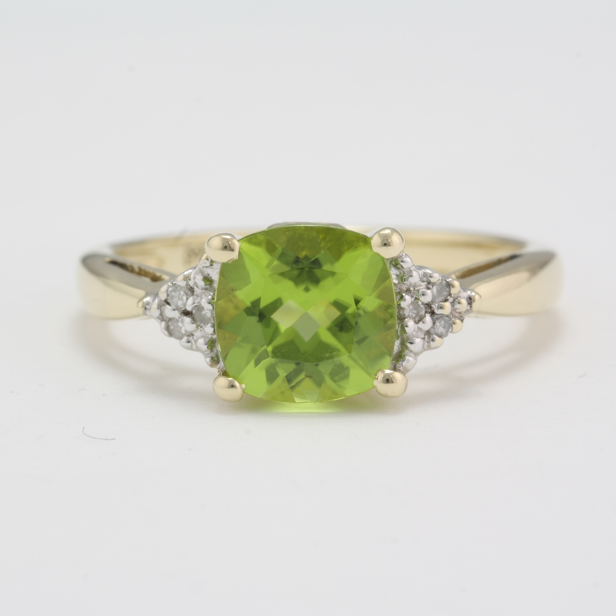 gold dress peridot diamond white ring pin stone wedding anniversary rings