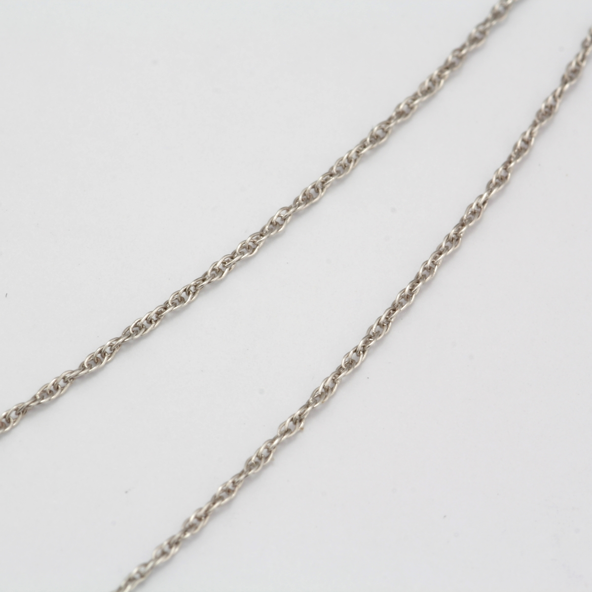 Pre Owned 14 Karat White Gold Fine Rope Chain
