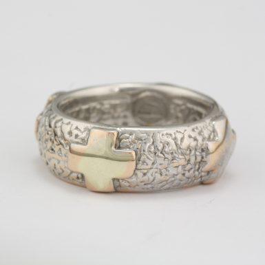 Pre-Owned 14 Karat White Gold Cross Ring