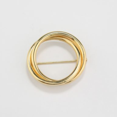 pre-owned-14-karat-yellow-gold-double-circle-brooch