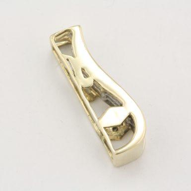 pre-owned-14-karat-yellow-gold-diamond-pendant