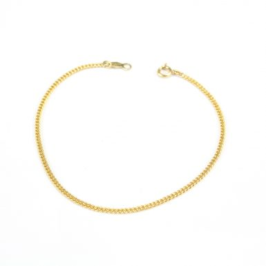 pre-owned-14-karat-yellow-gold-curb-bracelet
