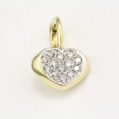 pre-owned-14-karat-diamond-pave-heart-pendant