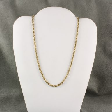 pre-owned-14-karat-open-rope-link-gold-chain