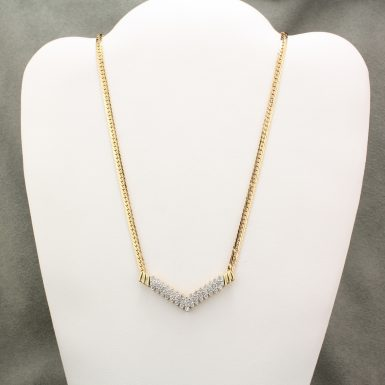 pre-owned-14-karat-yellow-gold-diamond-necklace