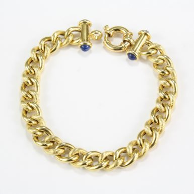 pre-owned-14-karat-yellow-gold-link-bracelet