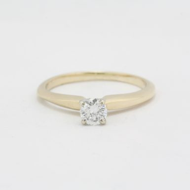 Pre-Owned 14 Karat Yellow Gold Diamond Engagement Ring