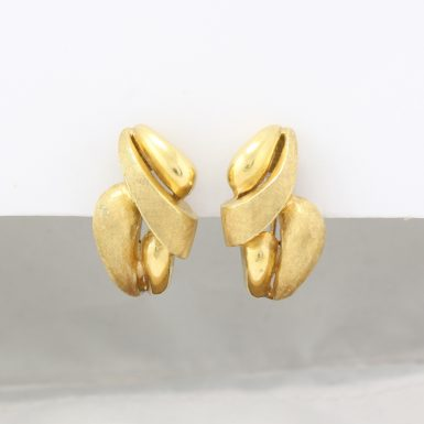Pre-Owned 14 Karat Yellow Gold Free-Form Style Earrings