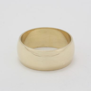 Pre-Owned 14 Karat Yellow Gold Wide Wedding Band