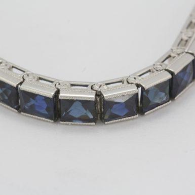 Pre-Owned Art Deco Platinum Sapphire Bracelet