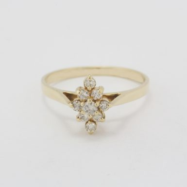 Pre-Owned 14 Karat Yellow Gold Champagne Diamond Ring