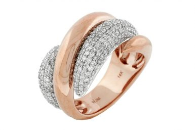 14 Karat Rose Gold Diamond Ring