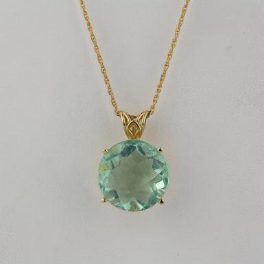 284197-Green Fluorite Pendant