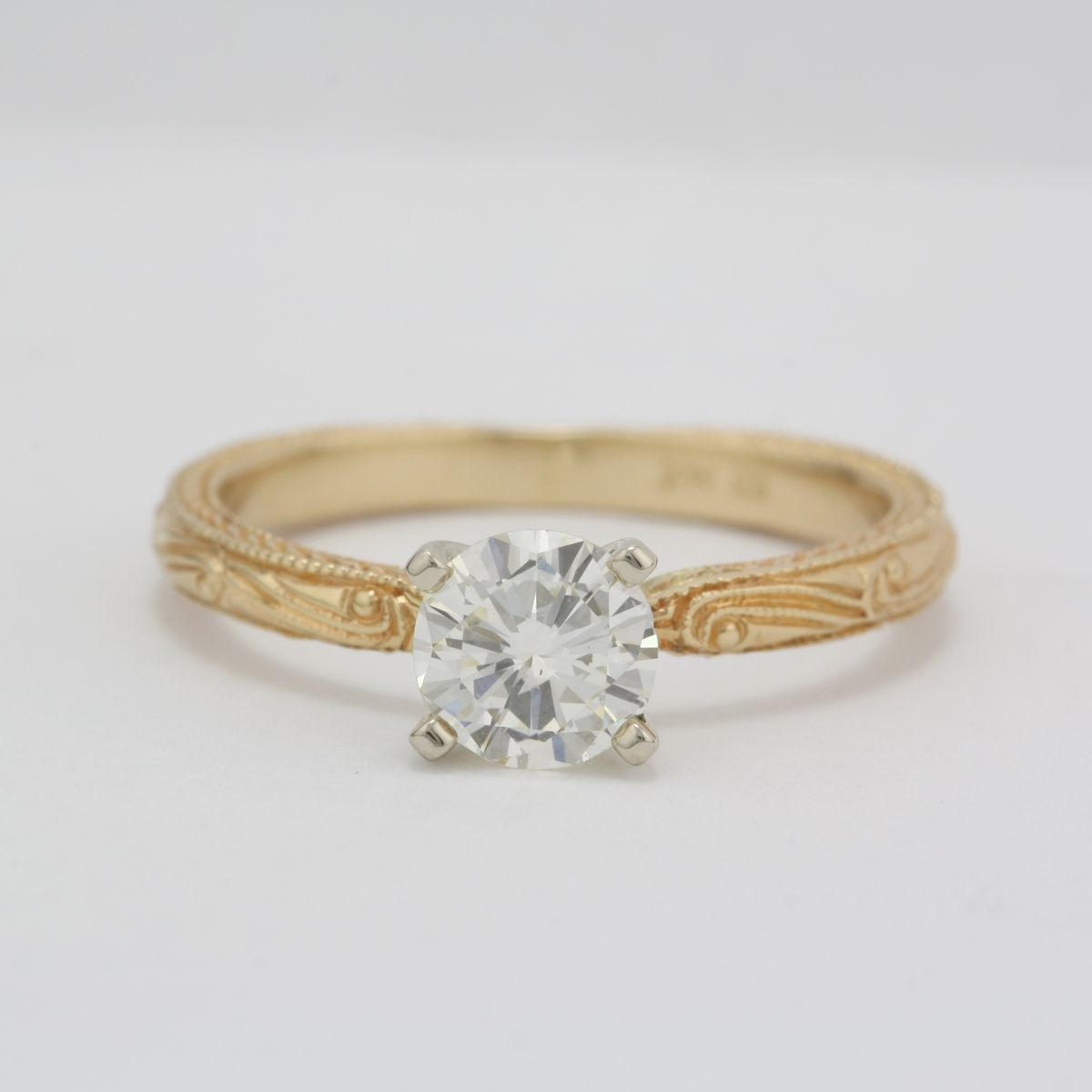 Preowned Diamond Engagement Ring With Scroll Design. Ancient Wedding Rings. Forest Wedding Rings. Scrollwork Wedding Rings. Round Cut Engagement Rings. Infinity Ring Engagement Rings. Dragon's Breath Wedding Rings. Pompom Rings. Glow Rings