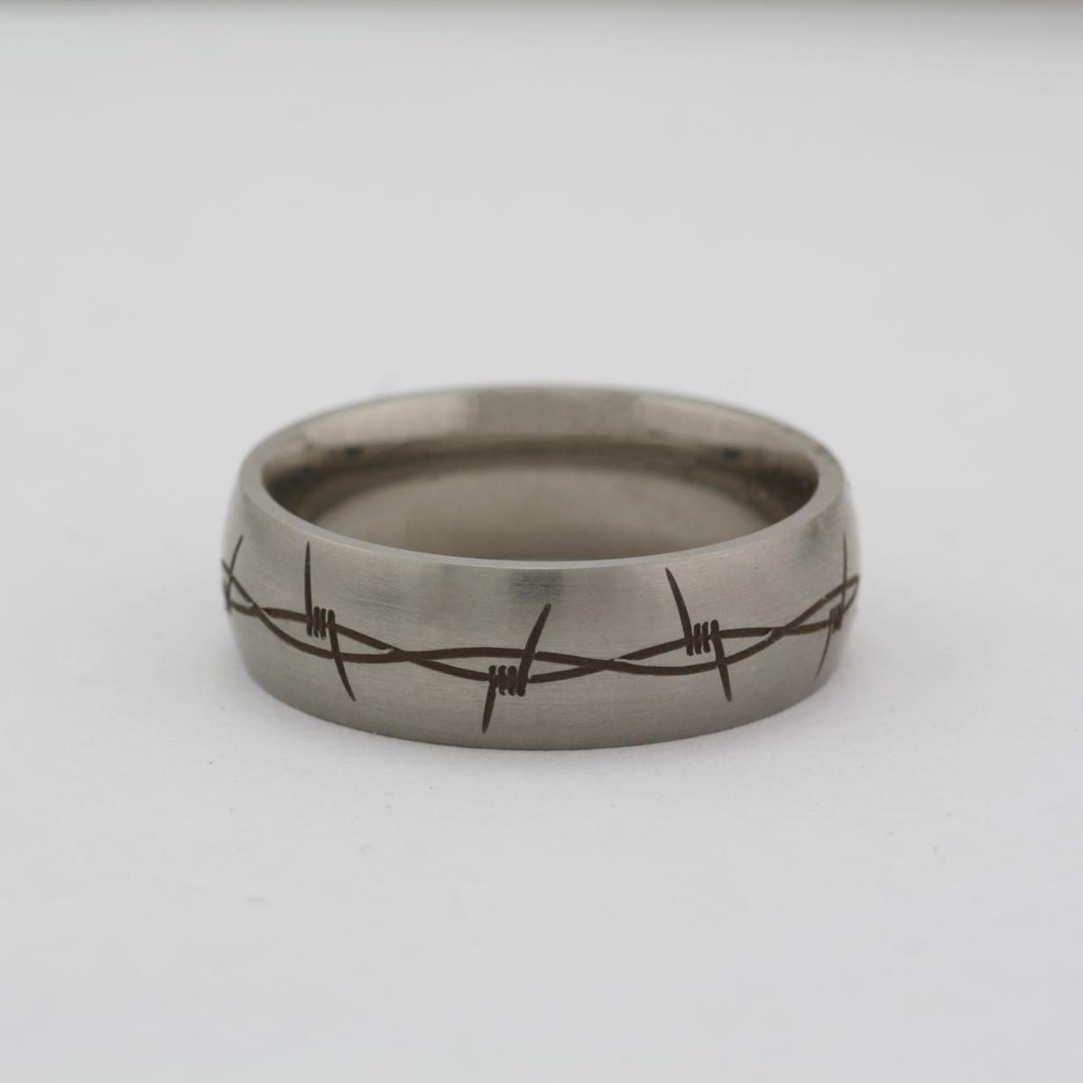Lashbrook Barbed Wire Titanium Band