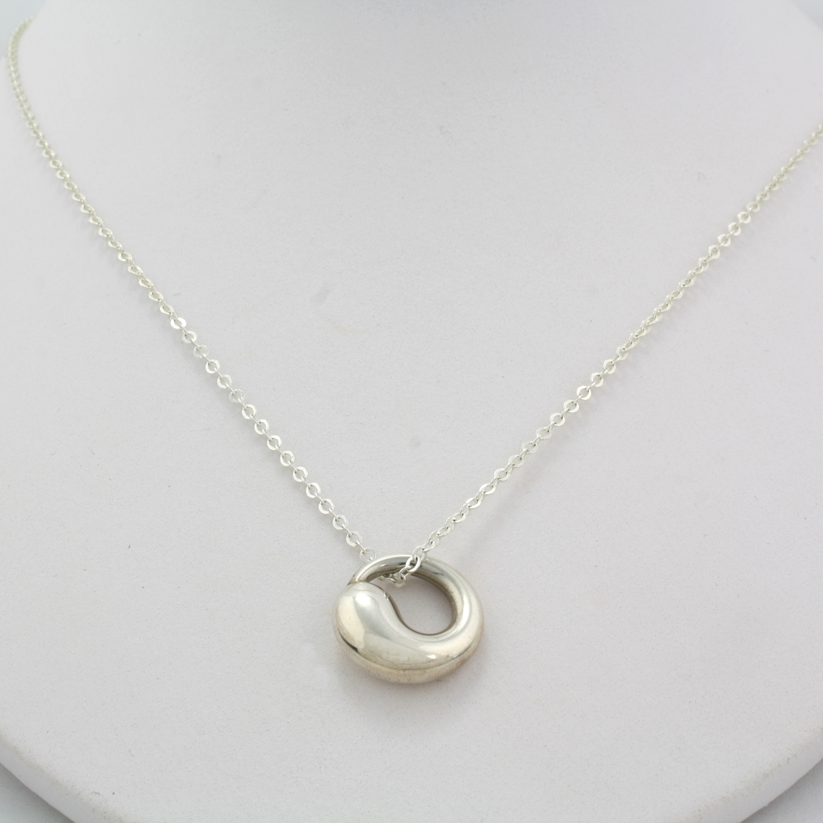 Tiffany co eternal circle pendant with chain mozeypictures Choice Image