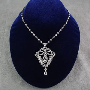 Edwardian Diamond and Platinum Necklace/Pendant  $12,000