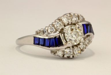 Estate 14k White Gold Pre-owned Diamond Ring