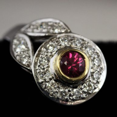 18k Pre-owned Ruby & Diamond Earrings