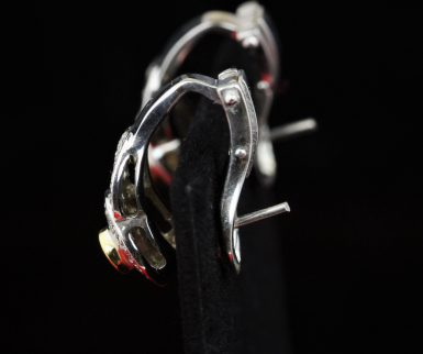 18k Pre-owned Ruby & Diamond Earrings