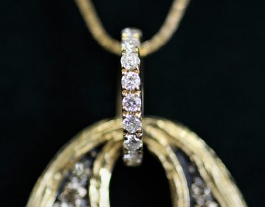 14k Pre-owned Brown Diamond Necklace