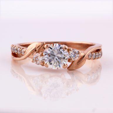 14k Rose Gold Pre-owned Diamond Ring