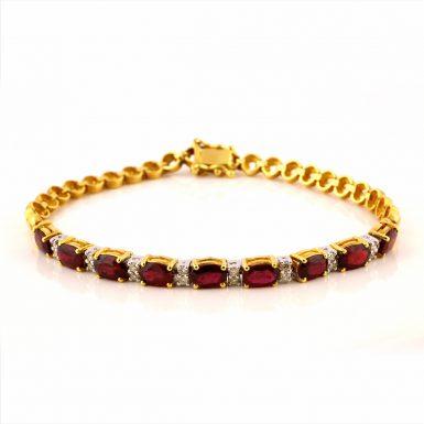 Pre-owned 18k Ruby and Diamond Bracelet