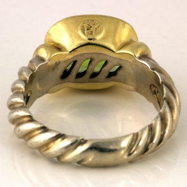 Pre-owned 14K/Sterling David Yurman Peridot Ring