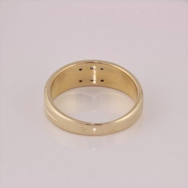 Pre-Owned 14K Art Carved GTS Men's Diamond Wedding Band