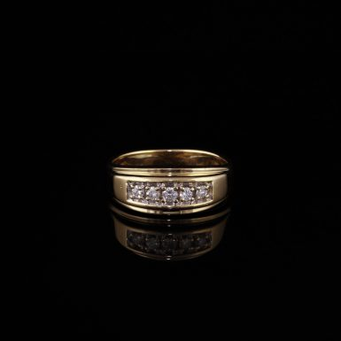 Pre-Owned 14K Men's Diamond Wedding Band