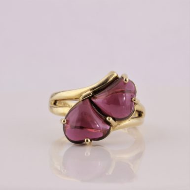 Pre-Owned 14k Heart/Cabochon Garnet Ring