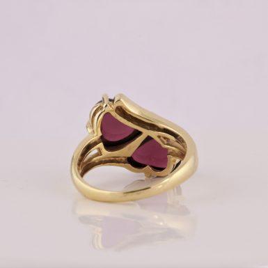 Pre-Owned 14k Heart/Cabochon Garnet Ring