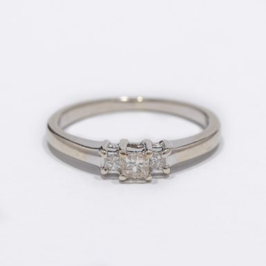 Pre-Owned 10k Princess-Cut Diamond Ring