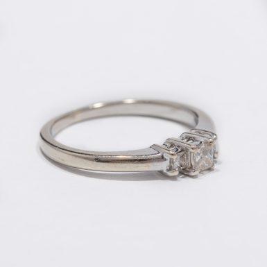 Pre-Owned 10k Princess-Cut Diamond Ring