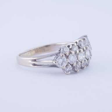 Vintage Diamond Band in 14k White Gold