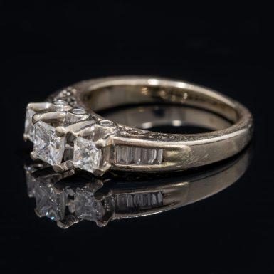 Pre-Owned 14k three stone diamond ring
