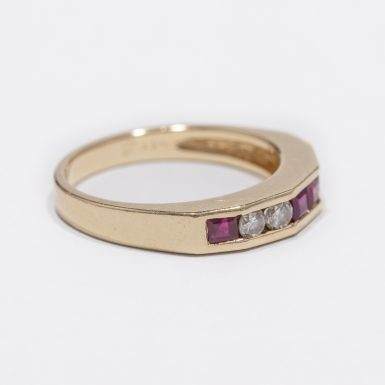 Pre-Owned 14k Ruby and Diamond Band