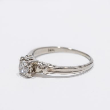 Vintage Diamond Solitaire Engagement Ring in 14k
