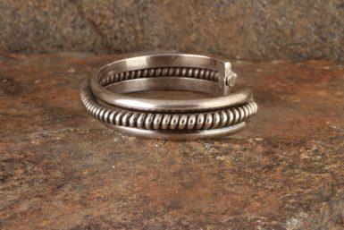 Pre-Owned Native American, Sterling Silver, Navajo Cuff Bracelet, Signed TAHE - Elaine Tahe