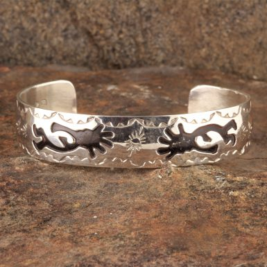 Pre-Owned Native American, Sterling Silver Kokopelli Cuff Bracelet