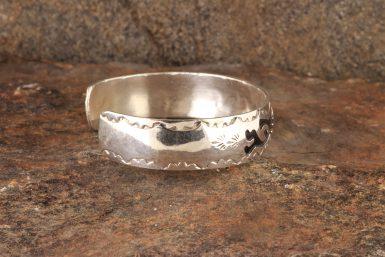 Pre-Owned Native American, Sterling Silver Kokopelli Cuff Bracelet