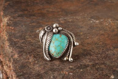 Pre-Owned Native American, Sterling Silver, Turquoise, Navajo Ring