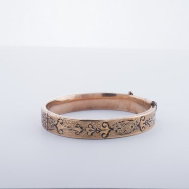 Victorian 14K Bangle Bracelet
