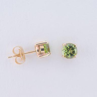 Pre-Owned 14K Peridot Stud Earrings