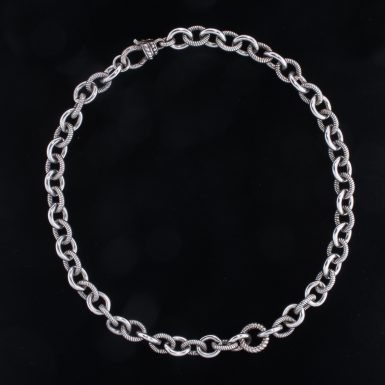 Pre-Owned Sterling Silver O-Link Chain