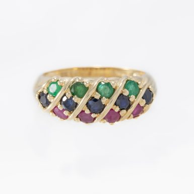 Pre-Owned Multi - Gemstone 14K Dome Ring